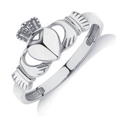 Claddagh Ring in 10kt White Gold