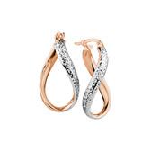 Hoop Earrings in 10kt Rose & White Gold