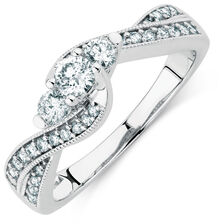 Online Exclusive - Engagement Ring with 1/2 Carat TW of Diamonds in 10kt White Gold