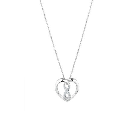Mini Infinitas Pendant with 1/20 Carat TW of Diamonds in Sterling Silver