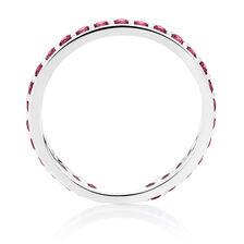 Burgundy Cubic Zirconia Stack Ring