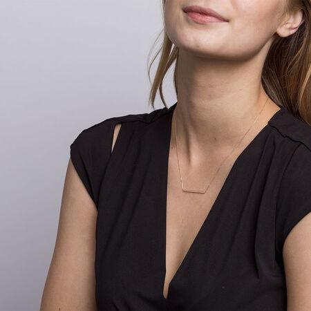 """45cm (18"""") Bar Necklace in 10kt Rose Gold"""