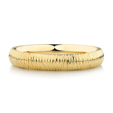 Patterned Ring in 10kt Yellow Gold