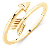 Arrow Wrap Ring in 10kt Yellow Gold
