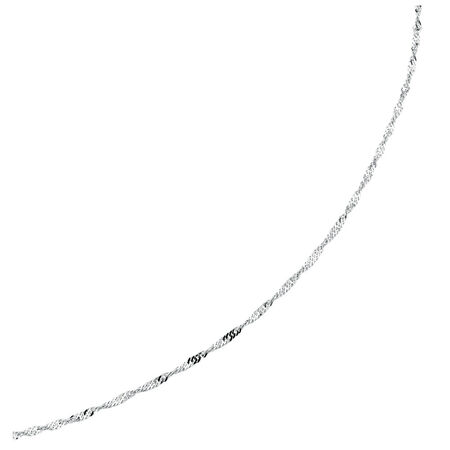 "50cm (20"") Singapore Chain in 14kt White Gold"