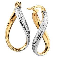 Hoop Earrings in 10kt Yellow & White Gold