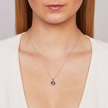 Online Exclusive - Everlight Pendant with White & Enhanced Blue Diamonds