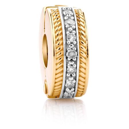 Diamond Set & 10kt Yellow Gold Stopper