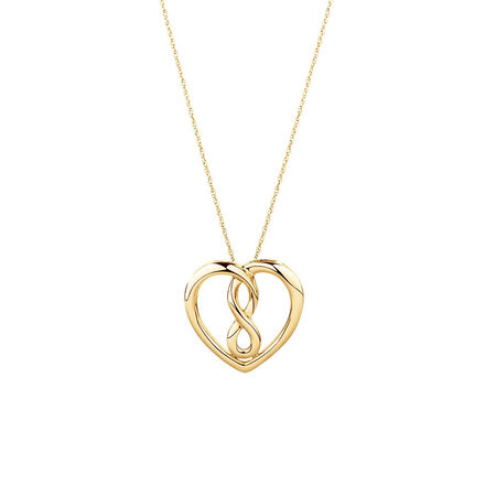 Medium Infinitas Pendant in 10kt Yellow Gold