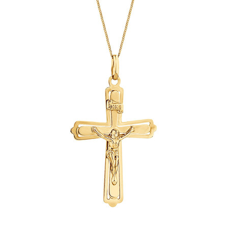 Crucifix Pendant in 10kt Yellow Gold
