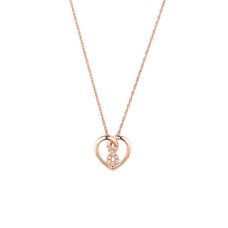 Mini Infinitas Pendant with Diamonds in 10kt Rose Gold