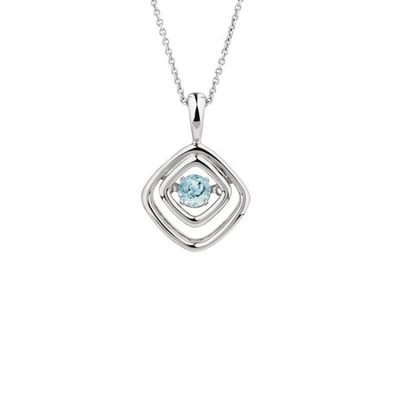 Online Exclusive - Everlight Pendant with Blue Topaz in Sterling Silver