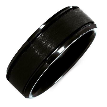 8mm Men's Ring in Black Tungsten