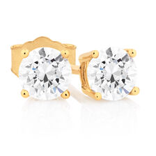 Classic Stud Earrings with 3/4 Carat TW of Diamonds in 14kt Yellow Gold