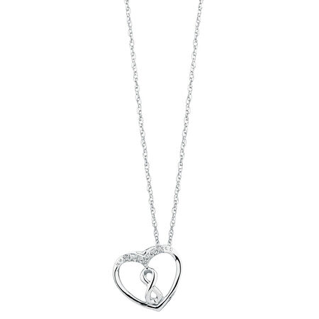 Inifinitas Pendant with Diamonds in Sterling Silver