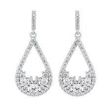 Teardrop Earrings with Luxe Cubic Zirconia in Sterling Silver