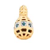 1/20 Carat TW Enhanced Blue Diamond Marrakesh Drop Charm
