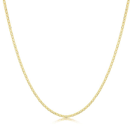"50cm (20"") Hollow Anchor Chain in 10kt Yellow Gold"
