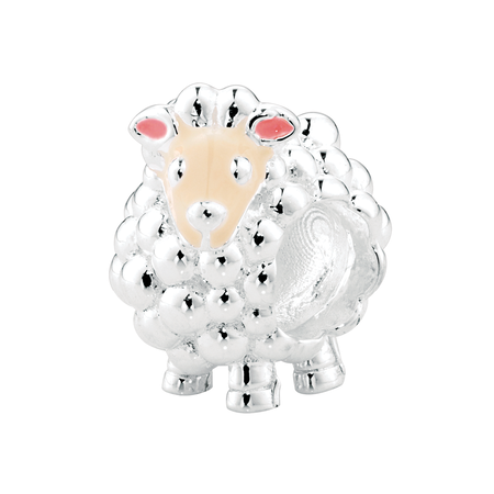 Sterling Silver & Enamel Sheep Charm