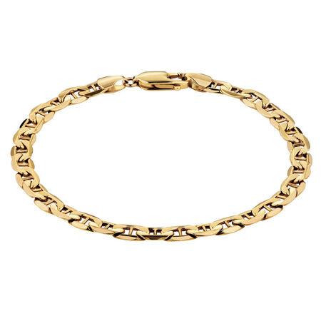 "19cm (7.5"") Anchor Bracelet in 10kt Yellow Gold"