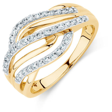 Ring with 3/8 Carat TW of Diamonds in 10kt Yellow Gold