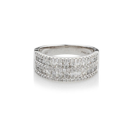 Online Exclusive - Ring with 1 Carat TW of Diamonds in 10kt White Gold