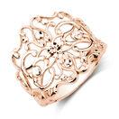 Filigree Ring in 10kt Rose & White Gold