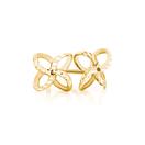 Petal Stud Earrings in 10kt Yellow Gold