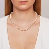 Necklace with Cultured Freshwater Pearl & 10kt Yellow Gold Clasp