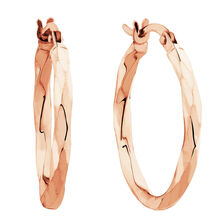 Twist Hoops in 10kt Rose Gold
