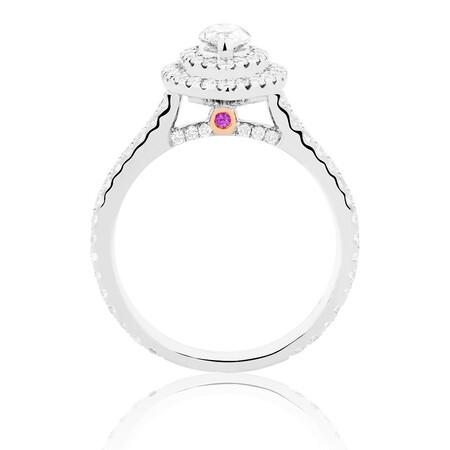Sir Michael Hill Designer GrandArpeggio Engagement Ring with 1 1/5 Carat TW of Diamonds in 14kt White Gold
