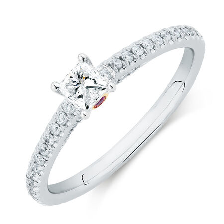 Sir Michael Hill Designer GrandAria Engagement Ring with 1/2 Carat TW of Diamonds in 14kt White Gold