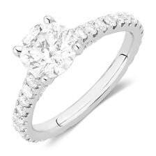 Sir Michael Hill Designer GrandAria Engagement Ring with 2 1/5 Carat TW of Diamonds in 14kt White Gold