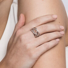 Infinitas Ring with 1/4 Carat TW of Diamonds in 10kt Rose Gold