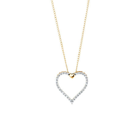 Heart Pendant with 1/6 Carat TW of Diamonds in 10kt Yellow Gold