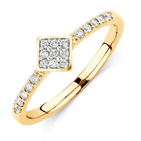 Promise Ring with 1/6 Carat TW of Diamonds in 10kt Yellow Gold