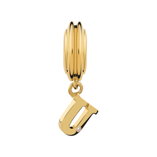 Diamond Set & 10kt Yellow Gold 'U' Charm