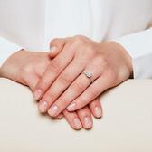 Sir Michael Hill Designer GrandAdagio Engagement Ring with 3/4 Carat TW of Diamonds in 14kt White Gold