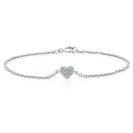 Bracelet with 1/20 Carat TW of Diamonds in Sterling Silver
