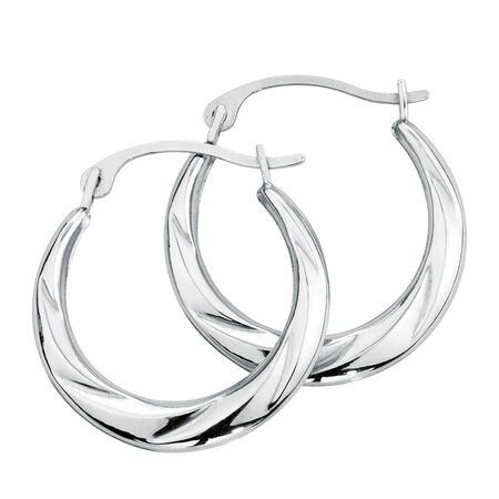 Hoop Earrings in 10kt White Gold