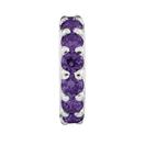 Purple Cubic Zirconia Spacer