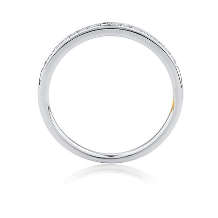 Whitefire Wedding Band with 1/6 Carat TW of Diamonds in 18kt White Gold & 22kt Yellow Gold