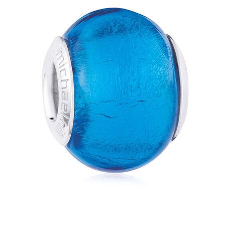 Bright Blue Glass Charm