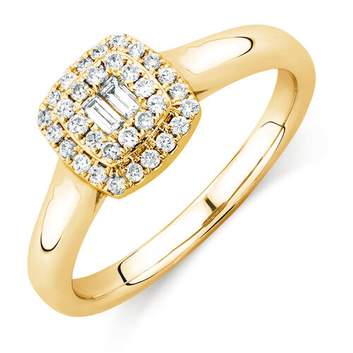 Exclusive Engagement Ring with 1 3 Carat TW of Diamonds in 10kt