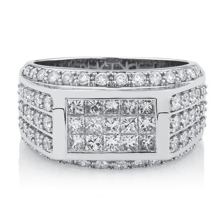 Men's Ring with 2 Carat TW of Diamonds in 14kt White Gold