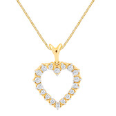 Heart Pendant With 1/4 Carat TW Of Diamonds In 10kt Yellow Gold