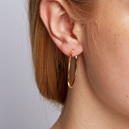 Hoop Earrings in 10kt Yellow Gold