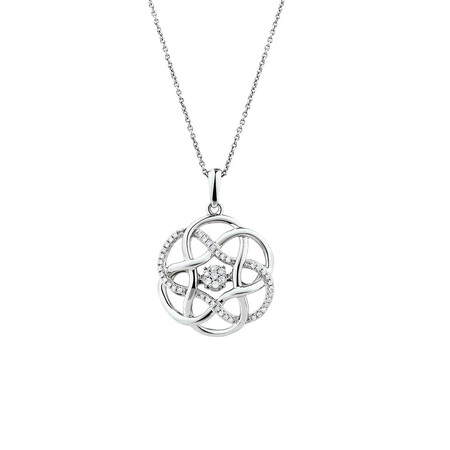 Everlight Pendant with 1/6 Carat TW of Diamonds in Sterling Silver