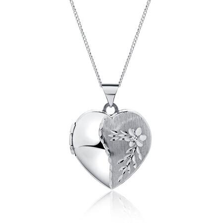 Heart Locket in Sterling Silver