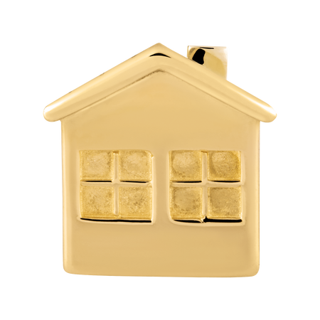 10kt Yellow Gold House Charm